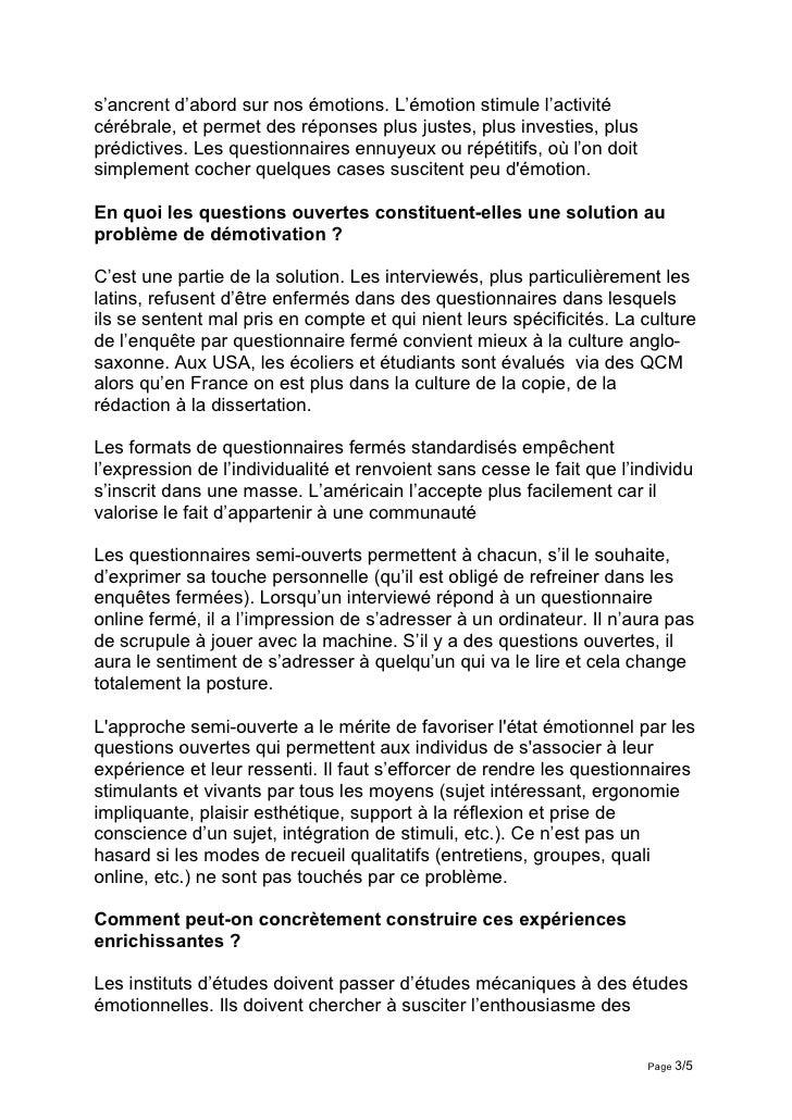 Interview Daniel Bo Le Questionnaire Experience Culturelle Slide 3