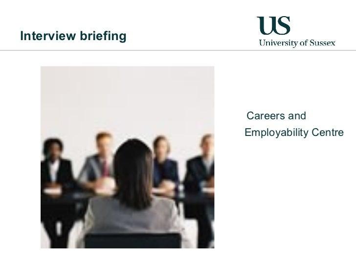 Interview Briefing