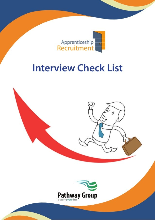 Interview Check List Pathway Groupputting you first