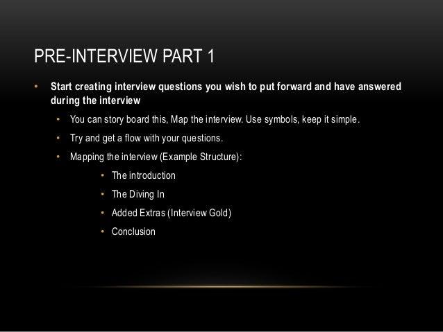 5. PRE INTERVIEW PART 1 U2022 Start Creating Interview Questions ...