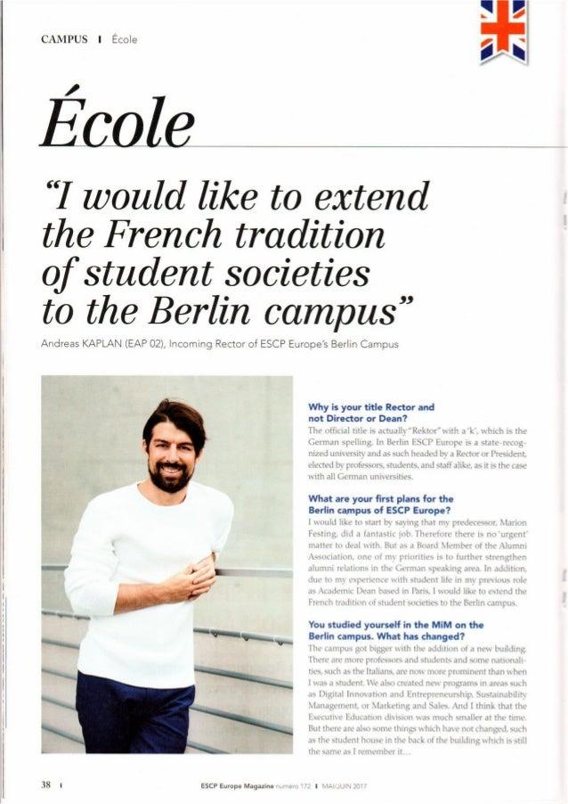 Interview Andreas Kaplan ESCP Europe Alumni Magazine