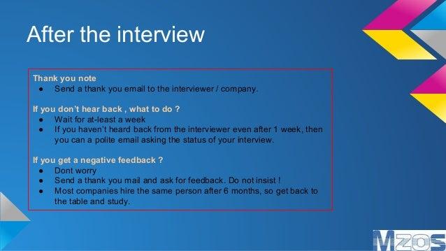 Interview Etiquettes