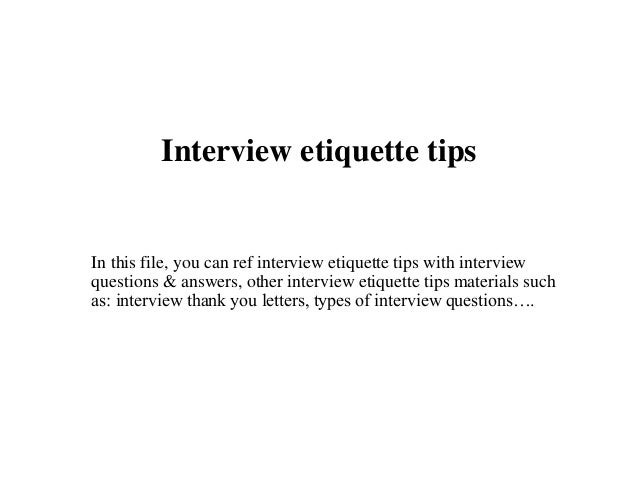 etiquette questions and answers