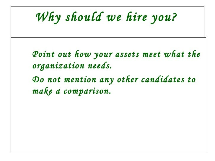 why should we hire you answers juve cenitdelacabrera co