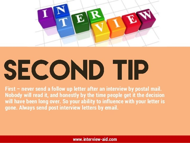 Interview Follow-Up Letter