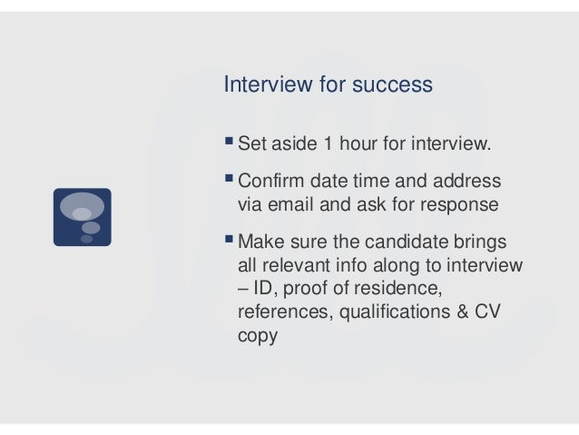 how to interview for success
