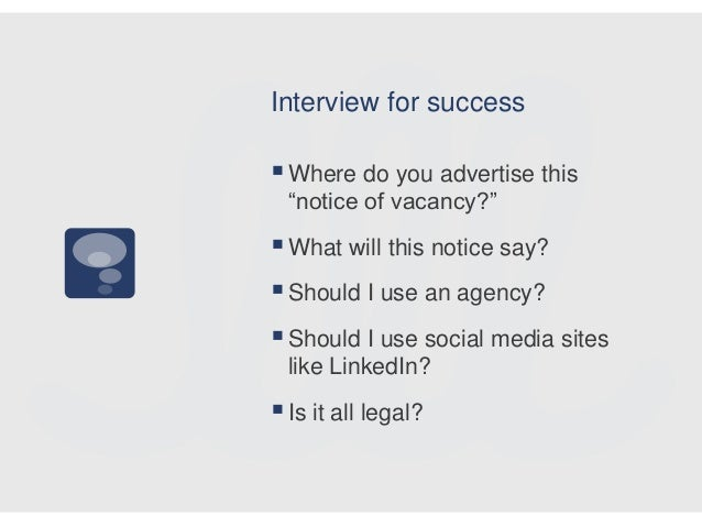 Awesome Interview For Success Where Do You ...