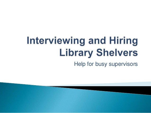 Help for busy supervisors