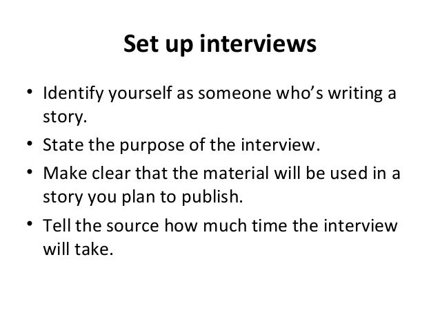 how to ask for an interview journalism