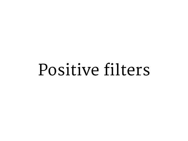 Negative filters