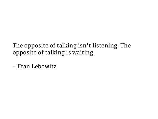 Tip: Use silence