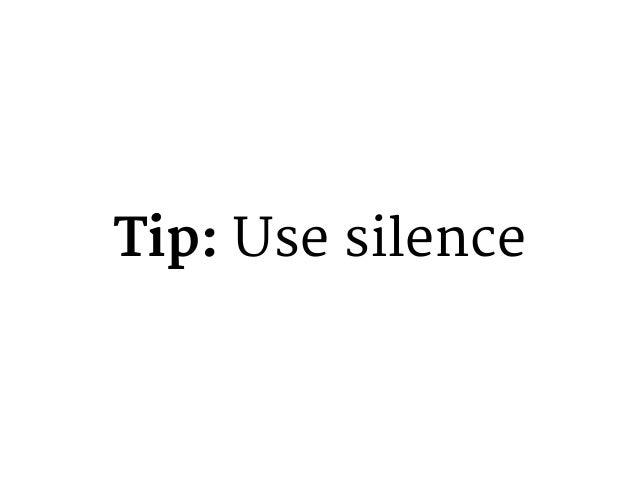 Tip: Body language