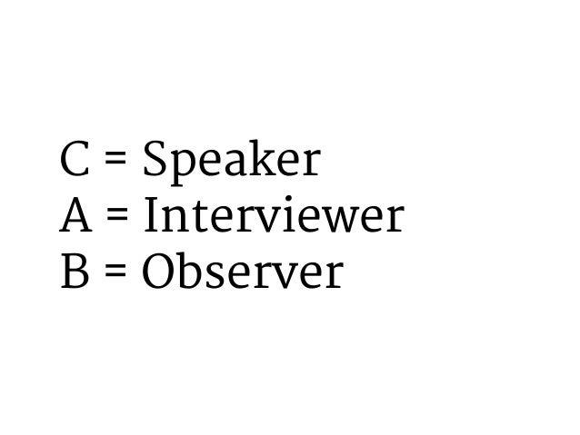 Speakers: Shut your eyes