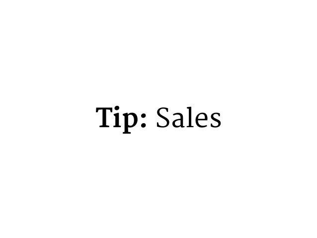 Tip: Marketing