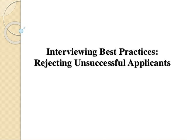 Image result for Calling Unsuccessful Candidates