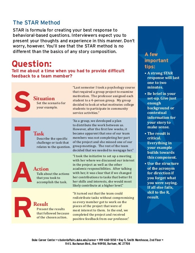 4. The STAR Method ...  Resume Star Method
