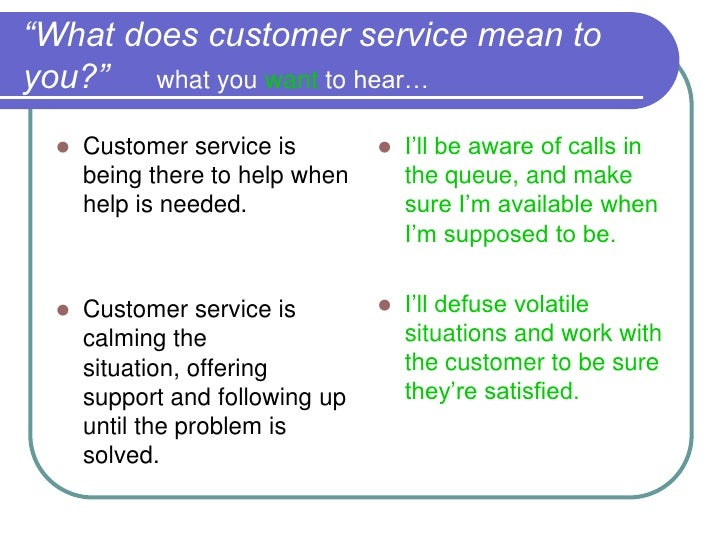 what mean customer service