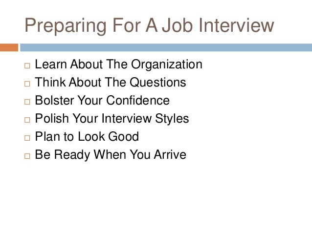 interviewing for employment and following up