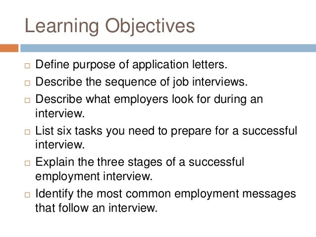 Prashant 3 Learning Objectives Define Purpose Of Application Letters