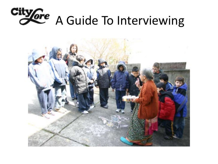 A Guide To Interviewing