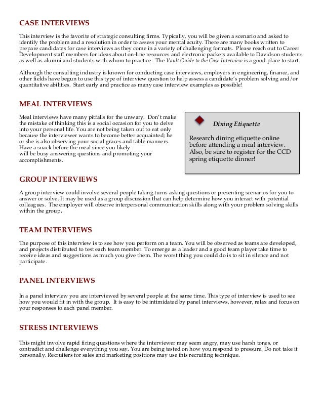 case interviews - Case Interview Examples Case Interview Questions