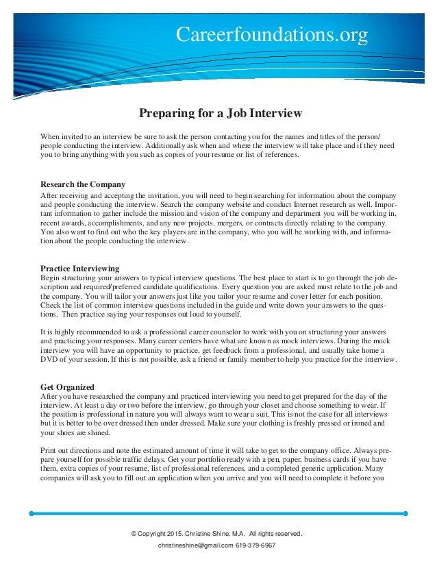 job interview preparation - What Should You Take To A Job Interview What To Bring And What Not To Bring