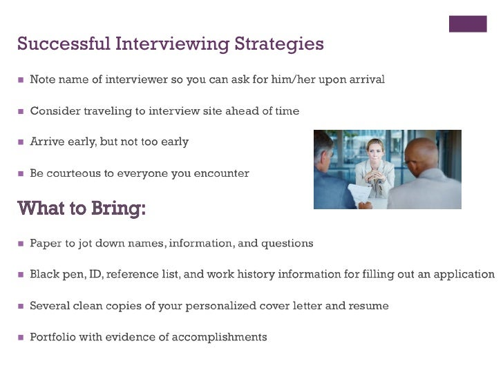 ... 5. Successful Interviewing ...