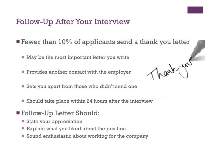 should you follow up after an interview