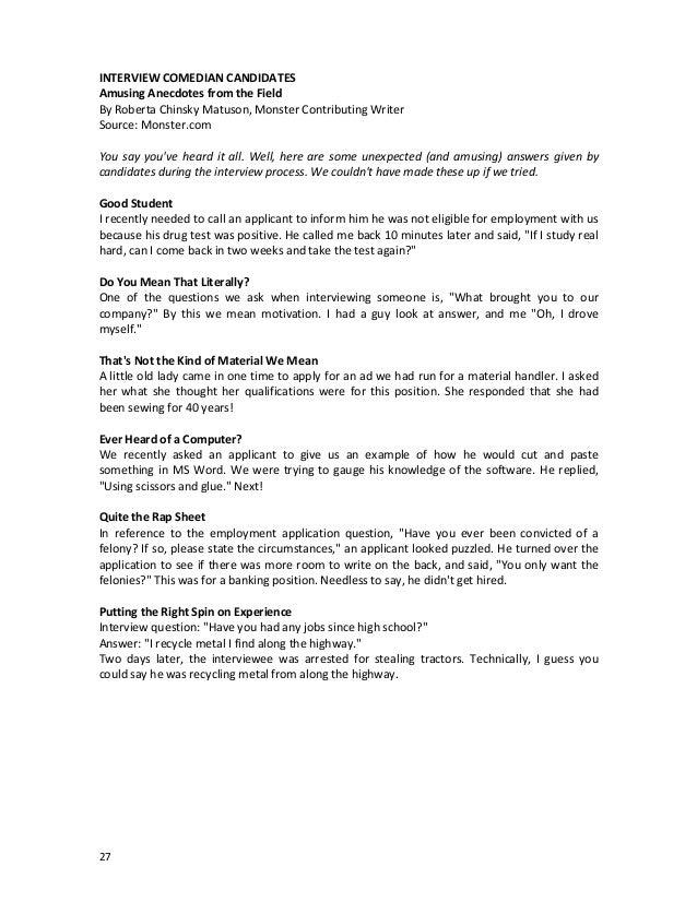 Interviewing Skills Manual