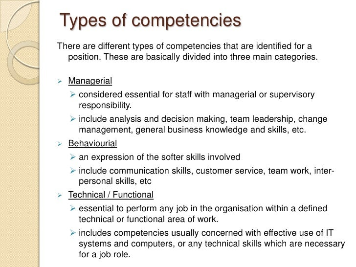 important contributions outcomes needed from the role - Different Types Of Technical Skills