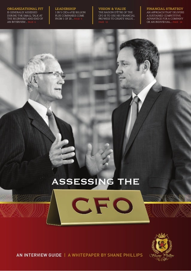 Organizational fit         LEADERSHIP                  Vision & Value                Financial Strategyis generally assess...