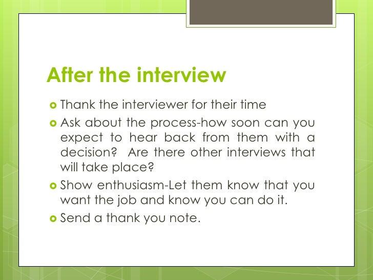 U003cbr /u003e; 23.  Interviewing Tips