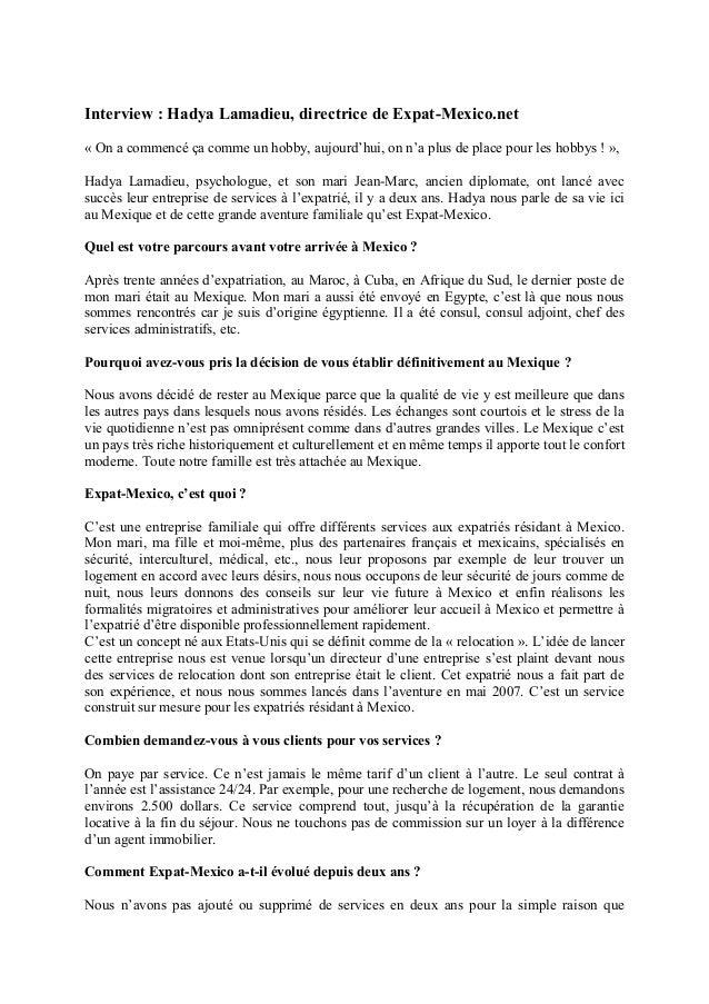 Interview : Hadya Lamadieu, directrice de Expat-Mexico.net « On a commencé ça comme un hobby, aujourd'hui, on n'a plus de ...