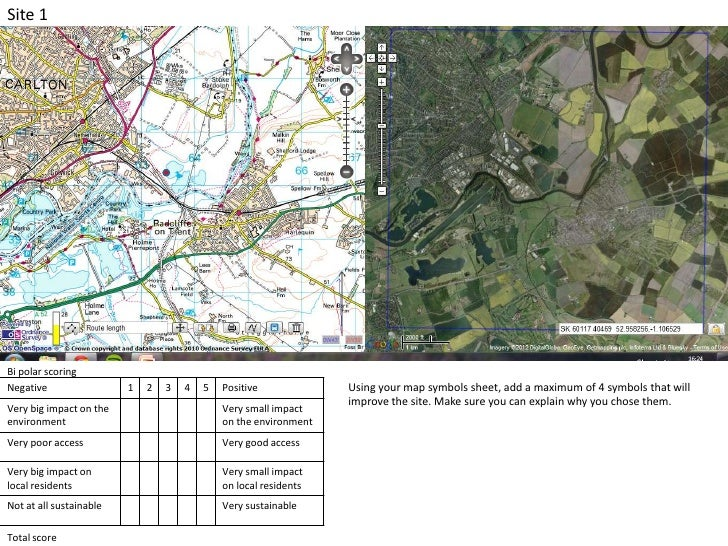 Site 1Bi polar scoringNegative                 1   2   3   4   5   Positive             Using your map symbols sheet, add ...