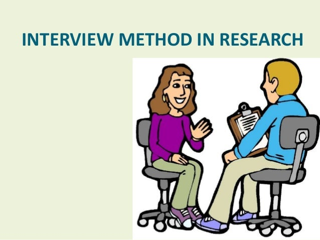 interviews in research paper