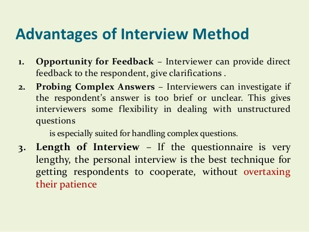 advantages - Structured Interview Questions And Answers Advantages And Disadvantages