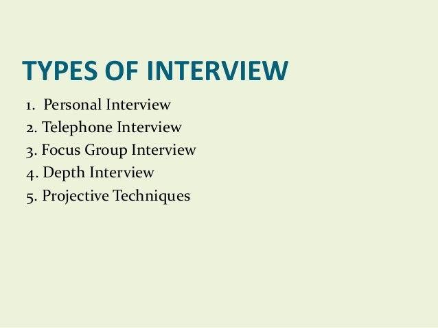 types of interview schedule in research methodology