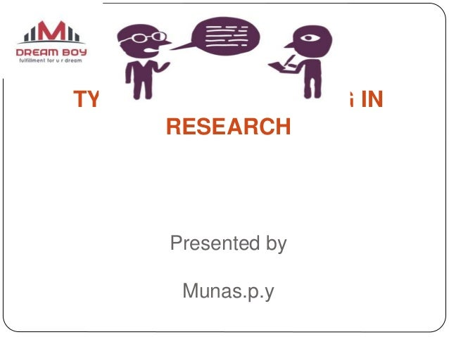 TYPES OF INTERVIEWING IN RESEARCH Presented by Munas.p.y