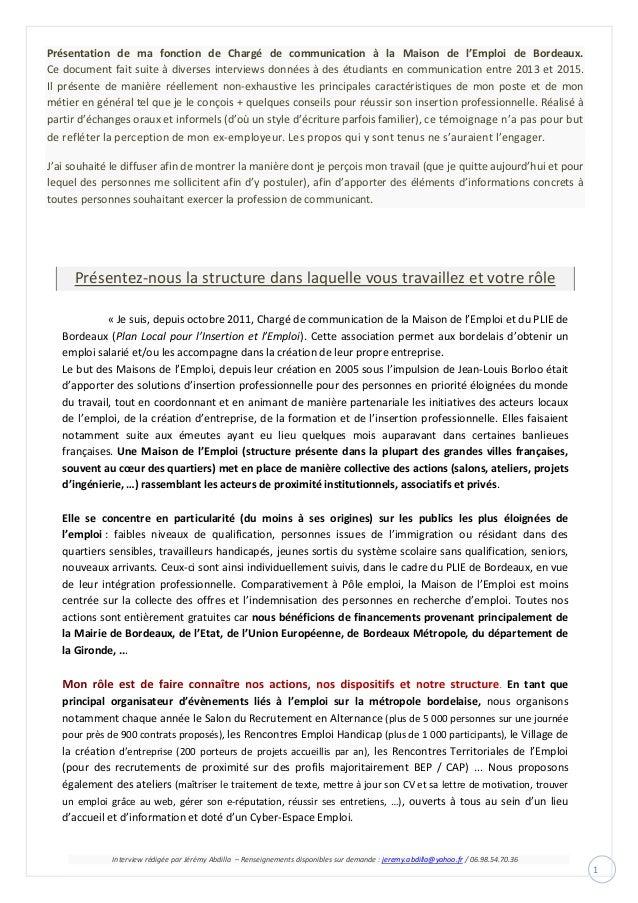 Interview rédigée par Jérémy Abdilla – Renseignements disponibles sur demande : jeremy.abdilla@yahoo.fr / 06.98.54.70.36 1...