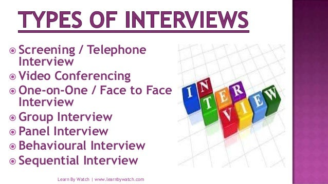 Interview And It S Types