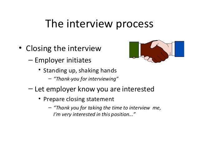 closing statement interview