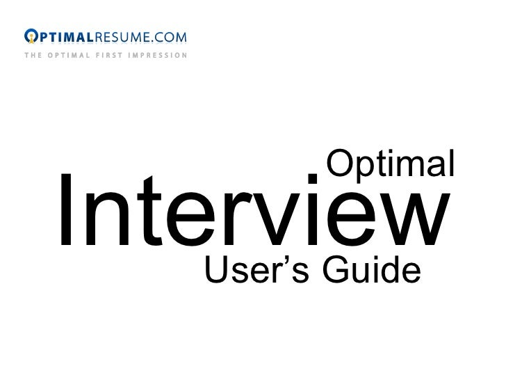 Optimal Interview User's Guide