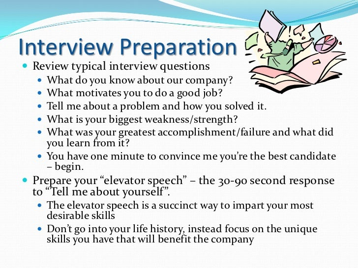 Interview Preparation Review Typical Interview Questions ...