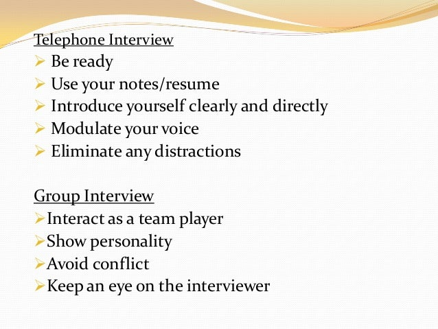 group interview essay