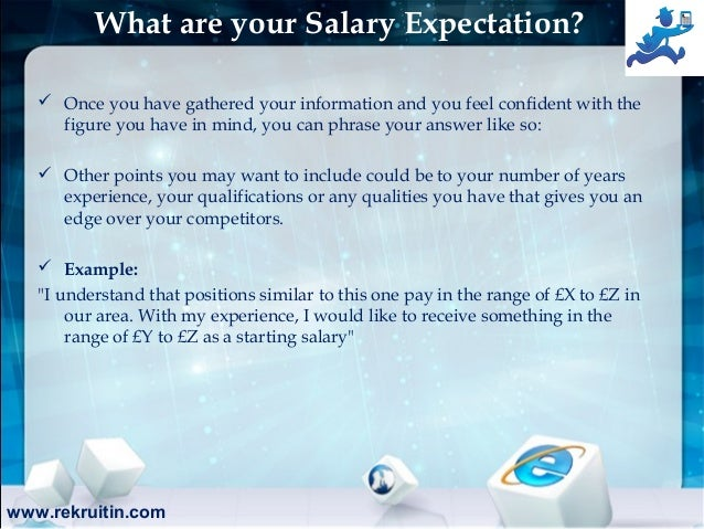 Www.rekruitin.com; 8. What Are Your Salary Expectation?