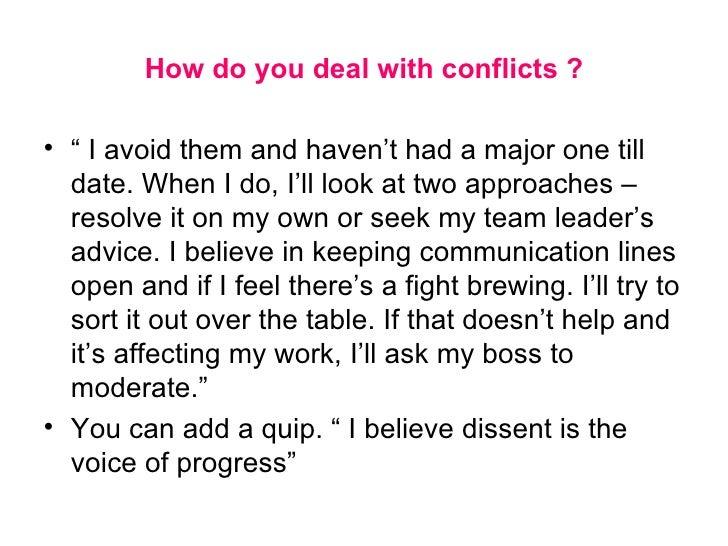 conflict essays