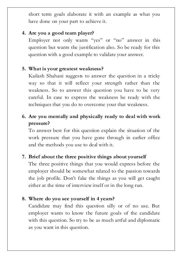 Stunning Job Interview Questions What Are Your Weaknesses Examples ...