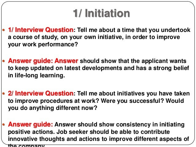 tell me about a time when interview questions