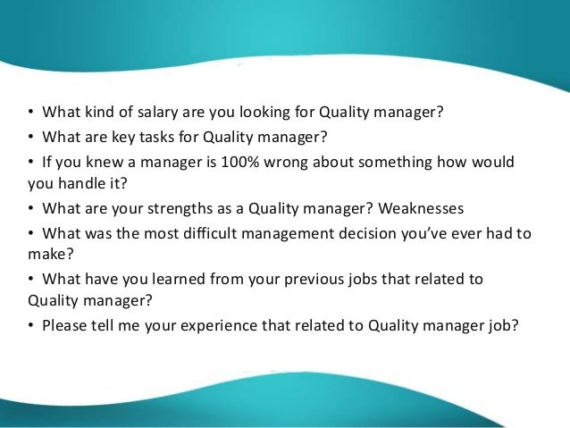quality assurance interview question Quality assurance (qa) is a way of preventing mistakes and defects in manufactured products and avoiding problems when delivering solutions or services to customers.