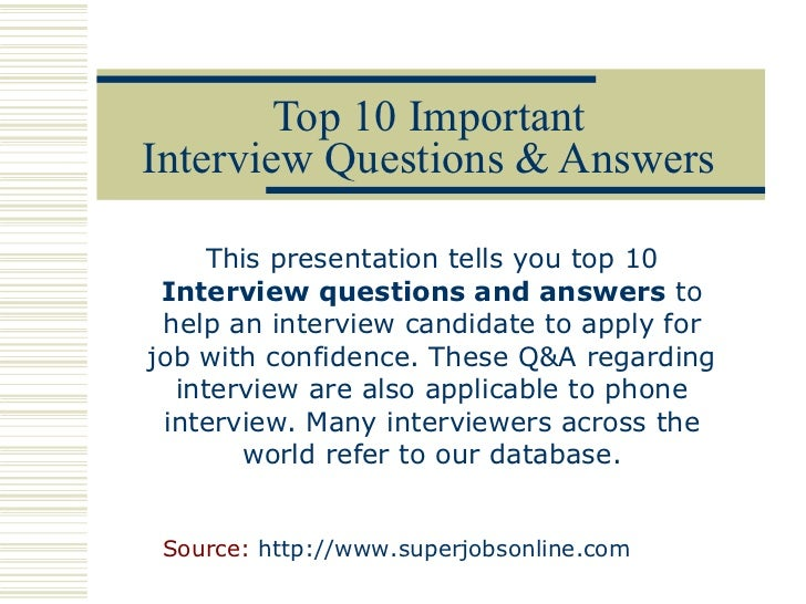 interview skills answers